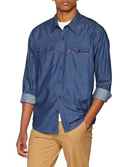 c1666aafc4 Levi s Men s Modern Barstow Western Denim Shirt  Amazon.co.uk  Clothing