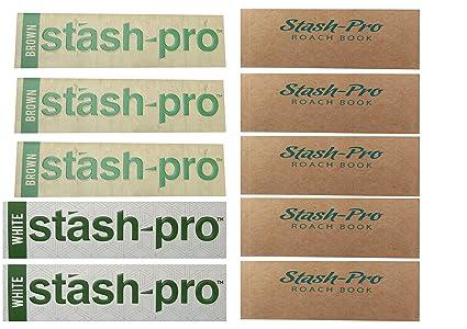 Stash-Pro Brown Smoking Rolling Paper(3 Pcs) + White Smoking Rolling Paper (2 Pcs) + 5 Roach Books