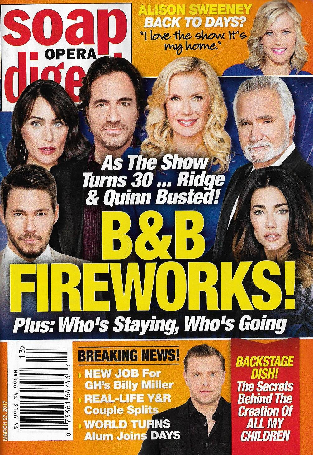 Read Online Bold & the Beautiful Turns 30 l Tribute/Collector's Issue - March 27, 2017 Soap Opera Digest pdf
