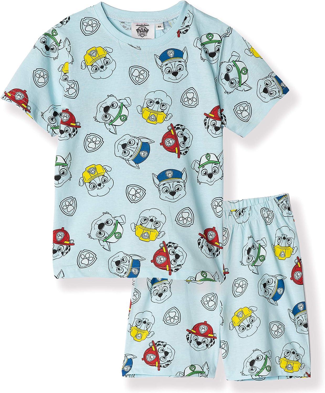 T-Shirt and Shorts Nightwear 2-6 Years Girls Short Sleeve 100/% Cotton Pyjamas Set Nickelodeon Original Paw Patrol Characters Patterned Boys