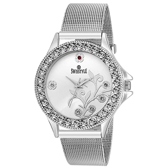 e578011f8e9 Buy SWISSTYLE Analogue White Dial Women s Watch -SS-LR097-WHT-CH Online at Low  Prices in India - Amazon.in