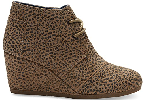 72f97f75a25 Image Unavailable. Image not available for. Color  TOMS Women s Desert  Wedge Cheetah Suede Printed Boot ...