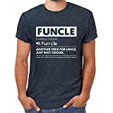 Comfiv Funcle Shirt for Men Best Uncle Shirt Ever Cool Funny Tshirt
