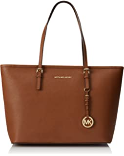 2c4abac9fb4bce Amazon.com: Michael Michael Kors Jet Set Top-Zip Travel Leather Tote ...