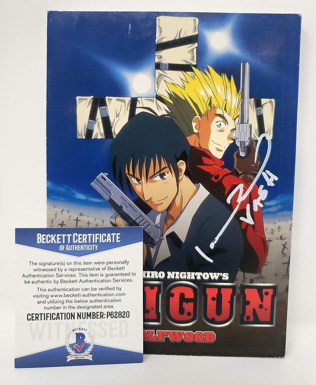 Johnny Yong Bosch autographed Trigun Dark Horse Manga Comic Book Vash the Stampede Voice Actor Beckett Proof