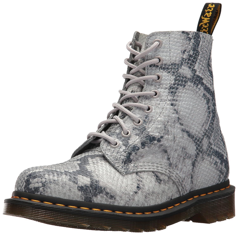 Dr. Martens Women's Pascal Snake Fashion Boot B0721MG7ZL 6 Medium UK (8 US)|Light Grey