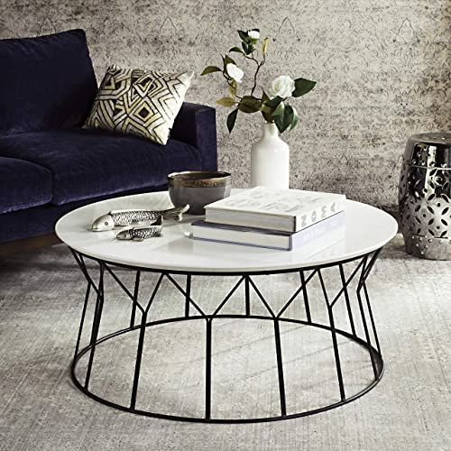 Safavieh Home Collection Deion Retro Mid-Century White and Black Coffee Table