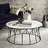 Safavieh Home Collection Deion Retro Mid-Century White and Black Coffee Table