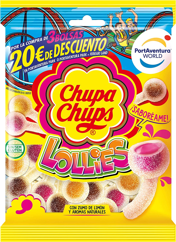 Chupa Chups Gomis, Golosinas de Sabores Variados con Aromas Naturales, Bolsa de Lollies de 175 gr.
