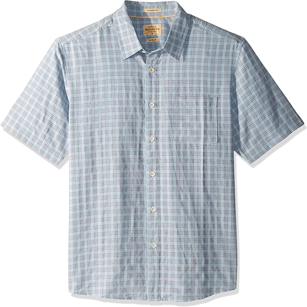 Quiksilver Mens Sunshine Crystals Button Down Plaid Shirt: Amazon.es: Ropa y accesorios
