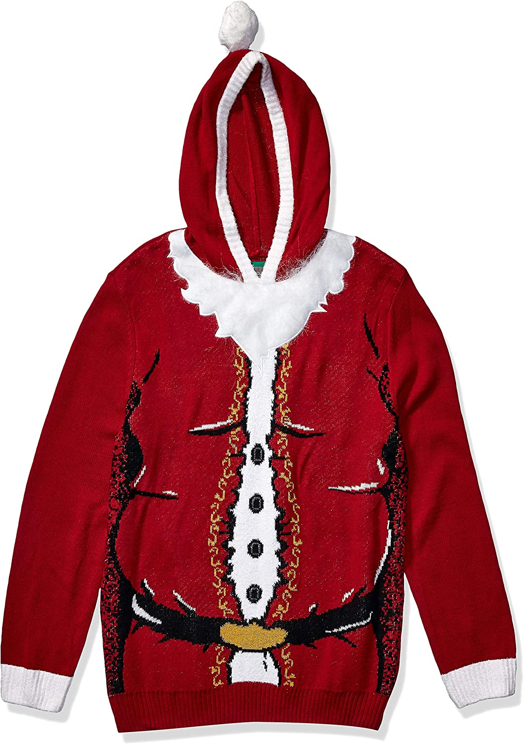 Ugly Christmas Sweater Men's Santa Hooded
