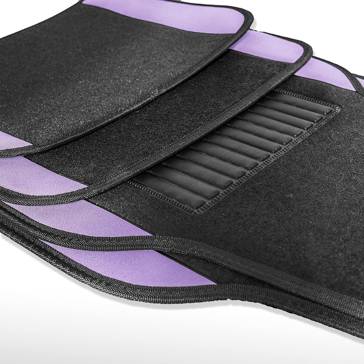 Sedan and SUV with Driver Heel Pad Green FH Group F14407GREEN Premium Full Set Carpet Floor Mat