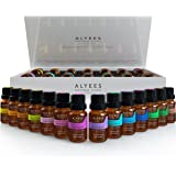 Alyees Aromatherapy Essential Oils -100% Pure Premium Theraputic Grade Sampler Gift Set/Pack - Best Variety 14 -10ml Oils Kit - Unlock The Power Of Natural Healing !