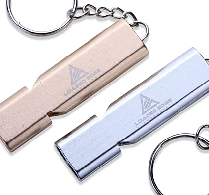 Details about  /Stainless Steel Safety Whistle Keychain Emergency Camping Survival Whistle