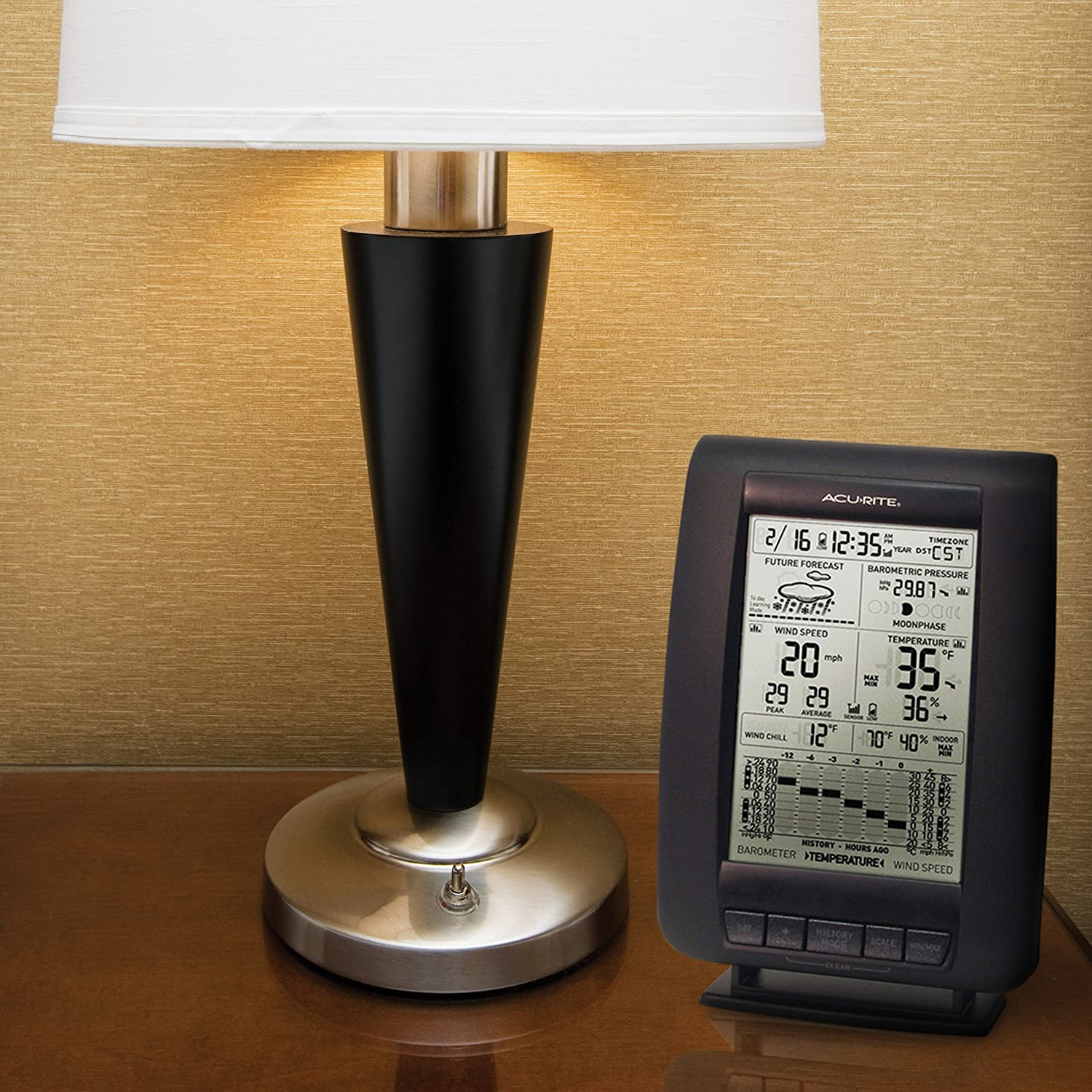 amazon com acurite 00634 wireless weather station with wind