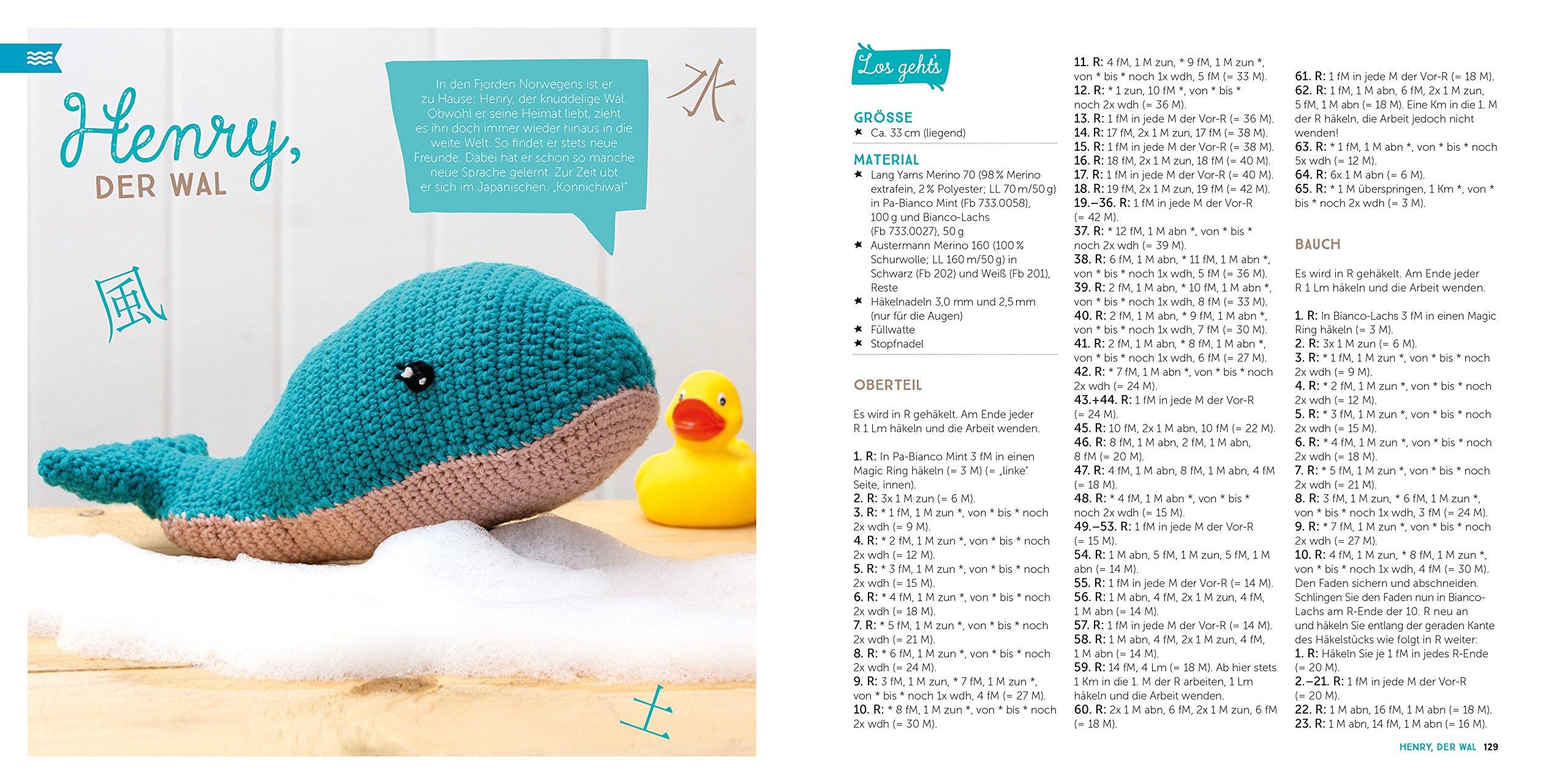 "kostenlose Häkelanleitung Babywal ""Joey"" Amigurumi | 1280x2560"