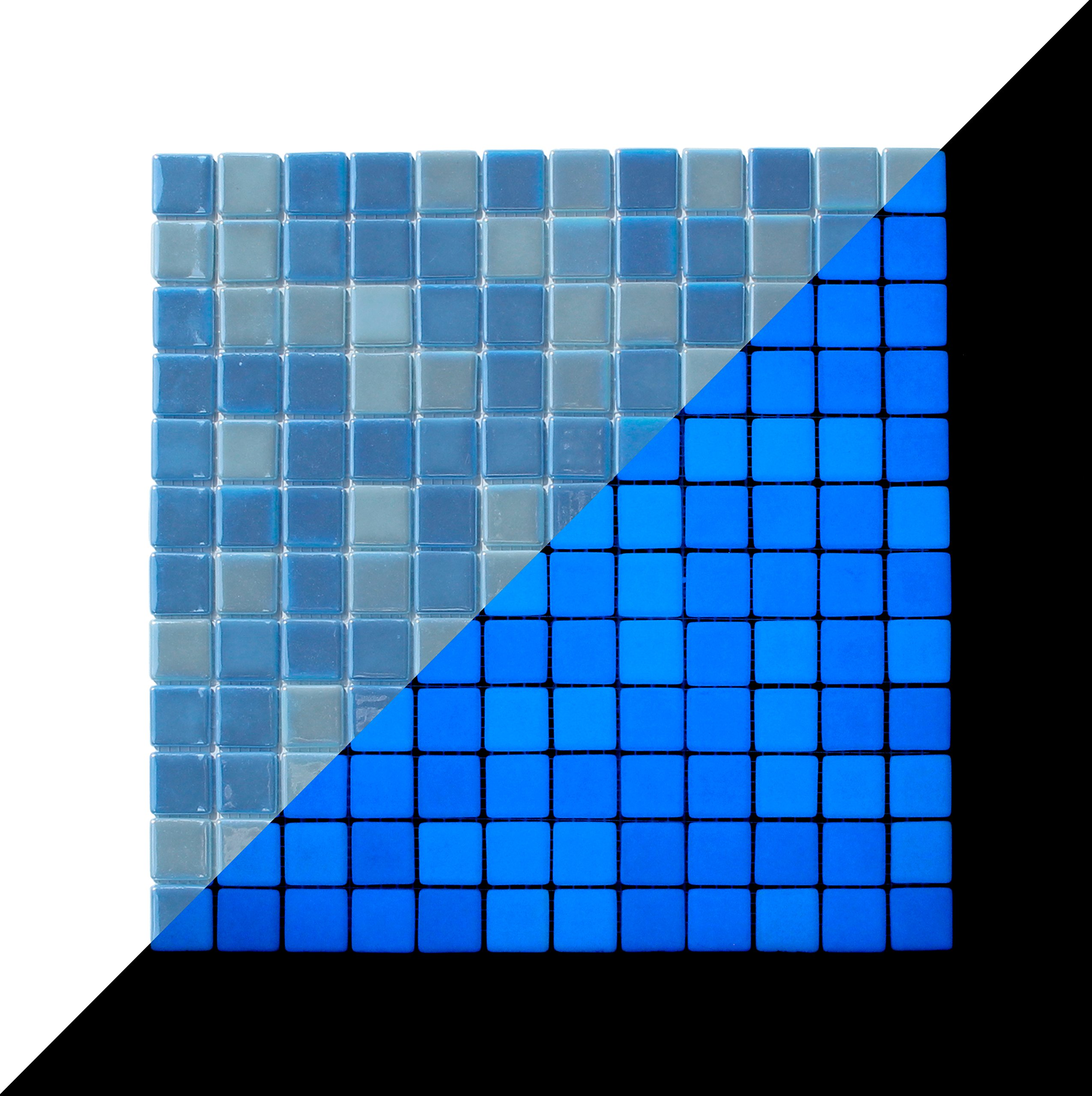 illumino Opus One Ocean Blue Glow-in-The-Dark Glass Tile / 1 Sheet 12.3'' x 12.3'' by illumino