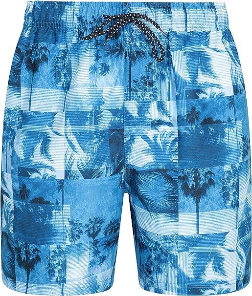 TALLA XS. Mountain Warehouse Bañador Corto Aruba para Hombre - Bañador de Secado rápido, Pantalones Ligeros, bañador con cordón Ajustable para la Playa - para Vacaciones y Piscina
