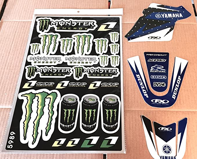 Pit Bike Pw 50 99-16 Yamaha Graphics Kit Factory Fx free Rockstar energy decal sheet