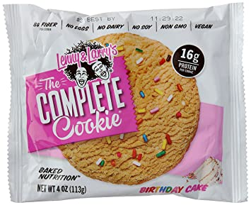 Lenny Larrys All Natural Complete Protein Cookie Birthday Cake 12 Count