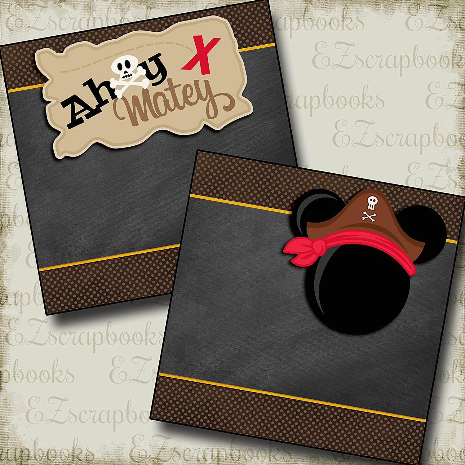 Ahoy Matey Mouse Red NPM Premade Scrapbook Pages EZ Layout 3353