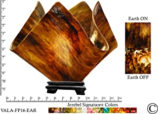 product image for Jezebel Signature Large Flame Earth Glass Vase Lamp