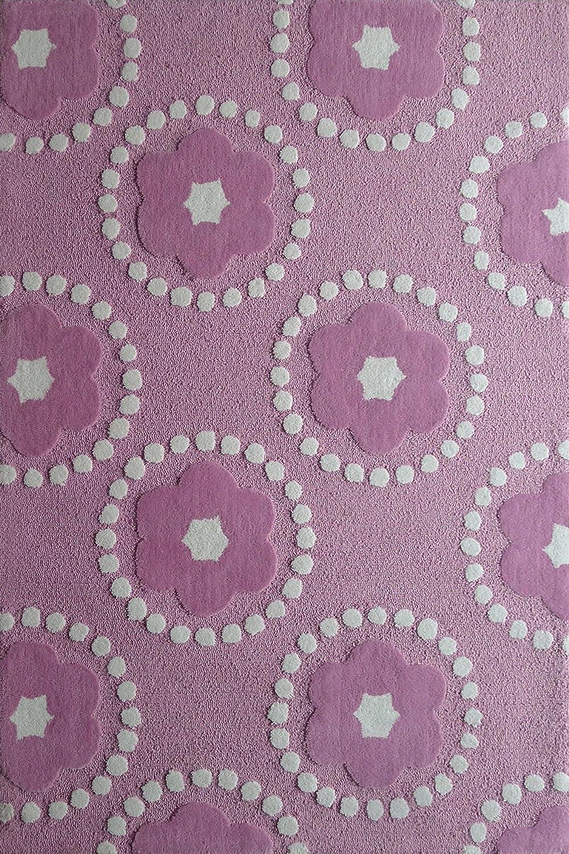 Amazon.com: RUGADDICTION Hermosa Alfombra Para ninos color purpura hecha a mano estilo moderno lujosa, 47.3