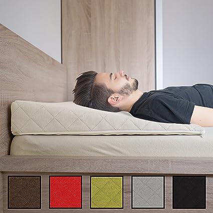 Salosan® Entspannungs- und Relaxkissen, Keilkissen für Bett/Couch/Liege/Sofa. Druckentlastendes Ruhekissen, Rückenkissen oder