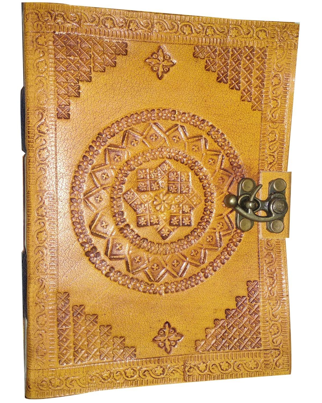 Leather Journal, Handmade Prime Travel Diary Chakra Diary Writing Notebook Gift for Men & Women
