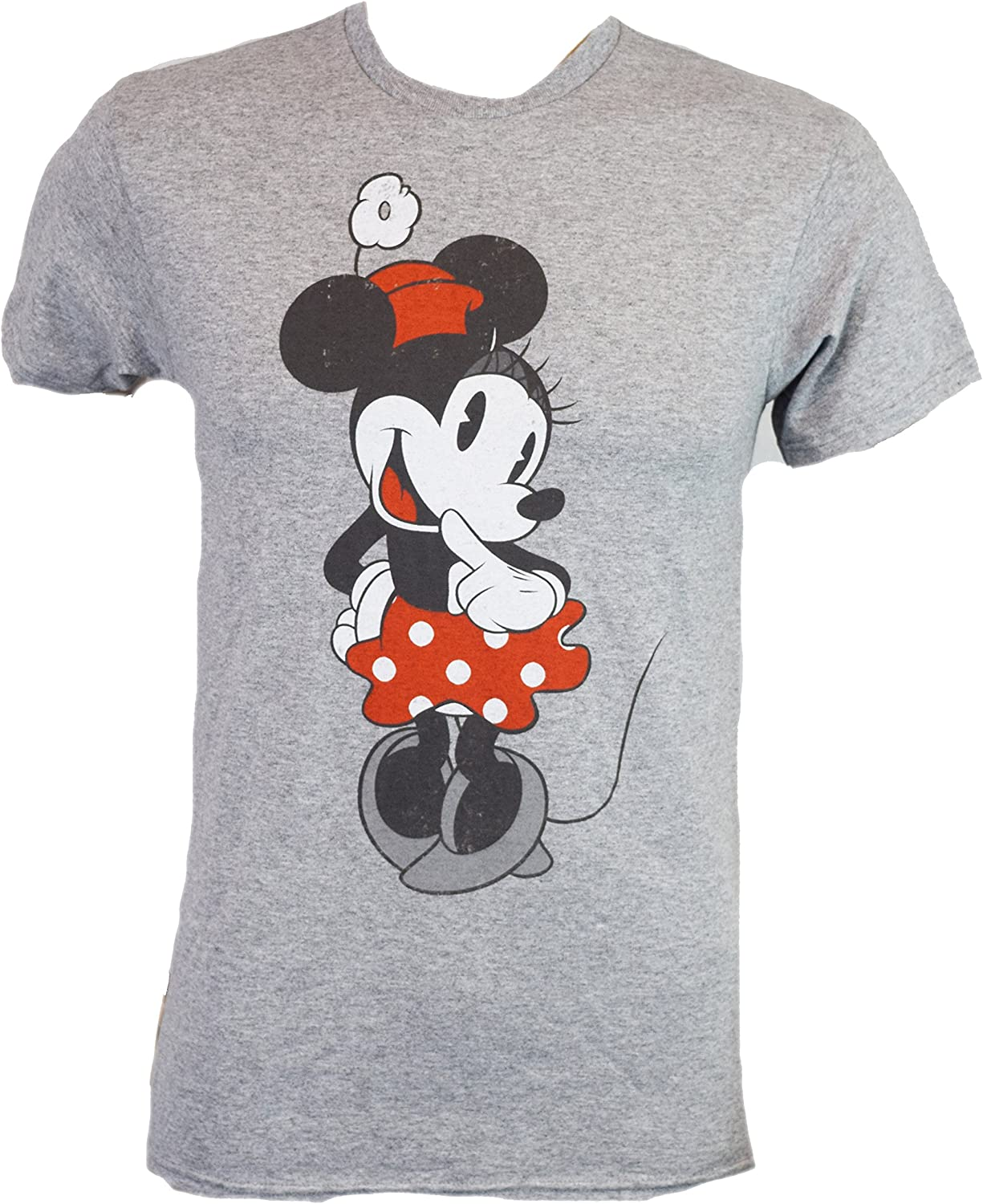 Disney Shy Minnie Mouse Graphic Tee Classic Vintage Disneyland World Adult Tee Graphic T-Shirt for Men Tshirt Clothes Apparel