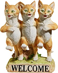 Design Toscano Chorus Line of Cats Garden Welcome Statue