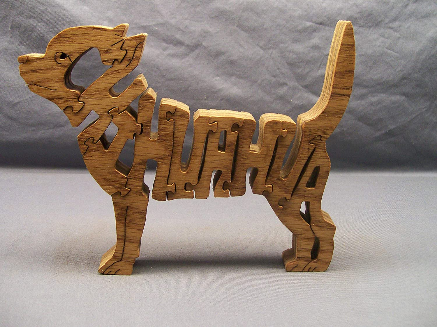 wooden Chihuahua dog puzzle