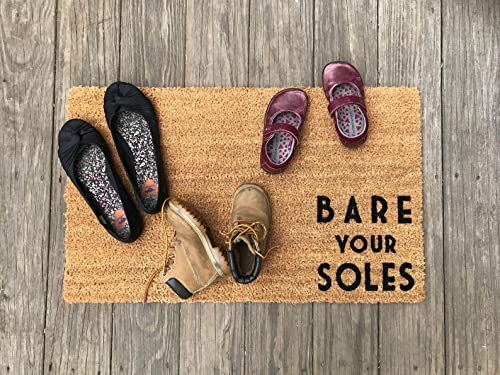Amazon.com: Bare your Soles © Door Mat (doormat), shoes off ...