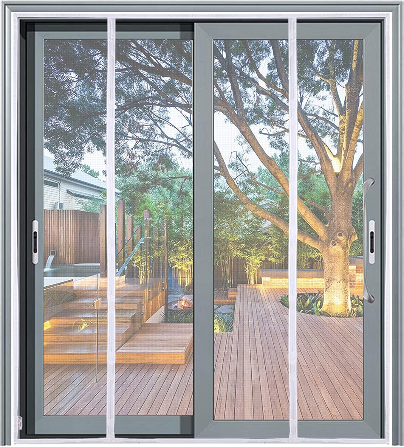 """Mag-Connexion Fiberglass Screen Door 