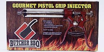 Butcher BBQ Pistol Grip Gourment Meat Injector