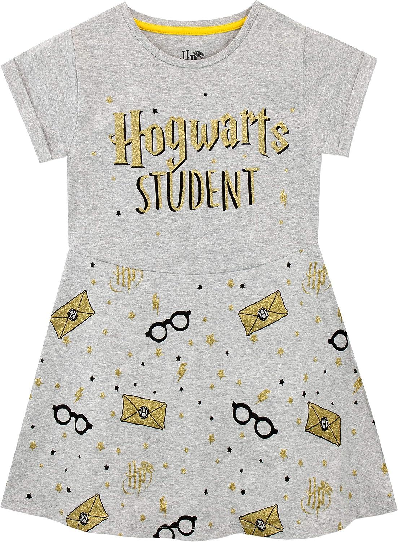 Harry Potter Vestido para niñas Hogwarts Gris 8-9 Años: Amazon.es ...