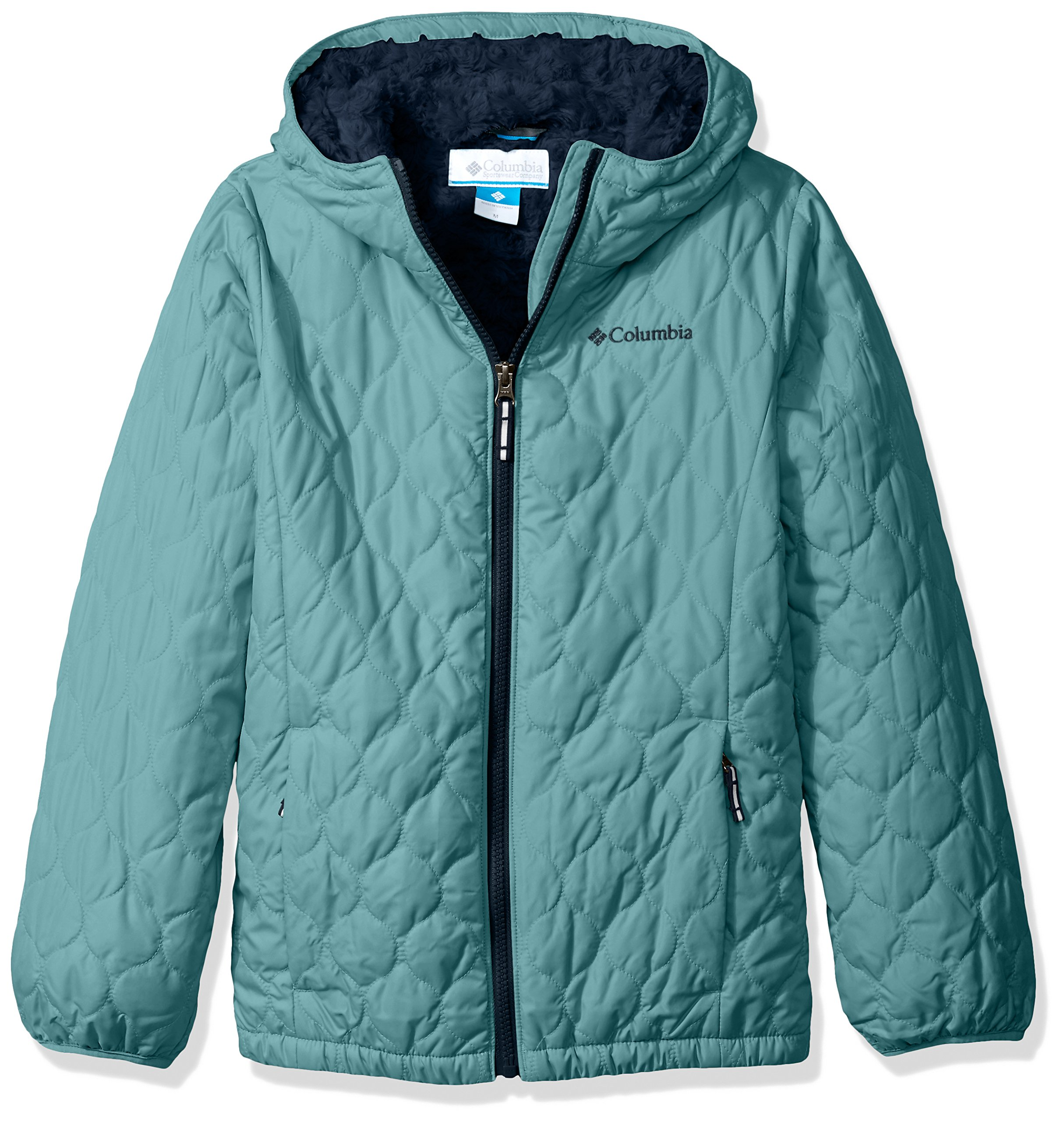 Columbia Big Girls' Bella Plush Jacket, Pacific Rim, Large