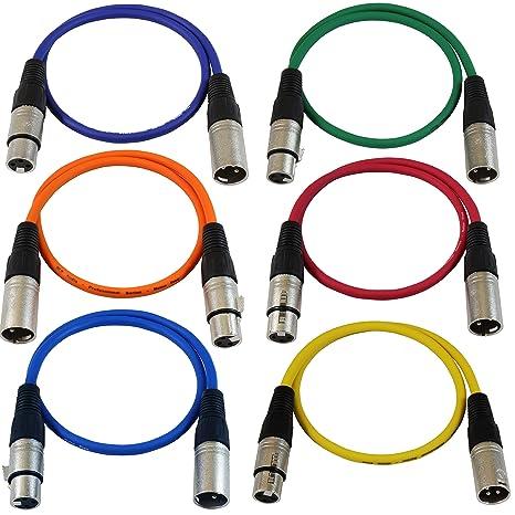 amazon com gls audio 2ft patch cable cords xlr male to xlr female rh amazon com USB to XLR Audio Cable Balanced XLR Cable Diagram