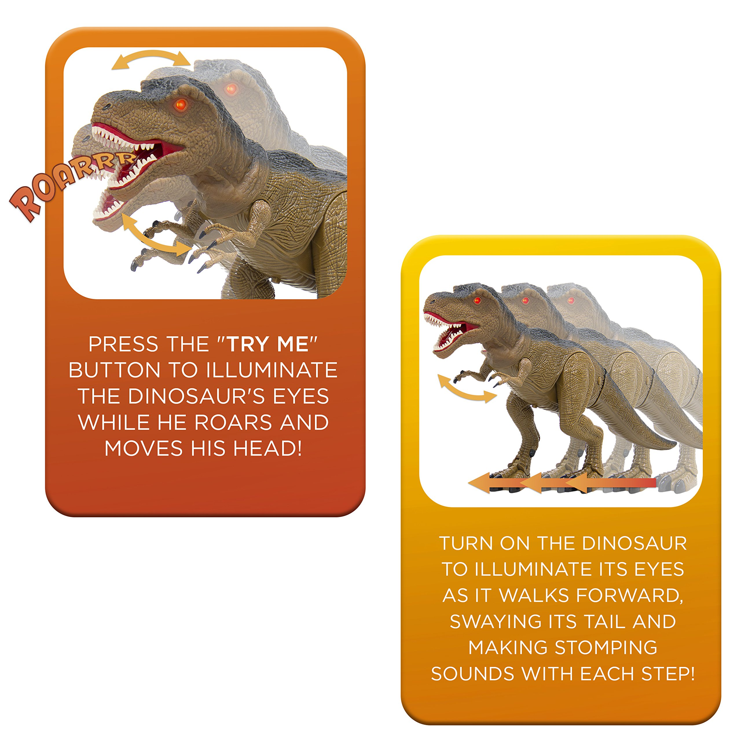 Best Choice Products 19in Kids Walking Remote Control Tyrannosaurus Rex Dinosaur RC Toy w/ Light-Up Eyes, Sounds by Best Choice Products (Image #4)