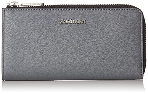 Calvin Klein Jeans - Drive Large Zip Around S, Carteras Mujer, Gris (Steel