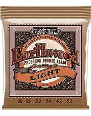 Cuerdas de guitarra acústica de fósforo bronce Ernie Ball Earthwood Light - Indicador 11-52