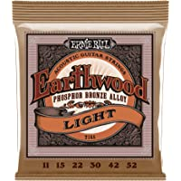 Ernie Ball Earthwood Light Phosphor Bronze Acoustic String Set, .011 - .052