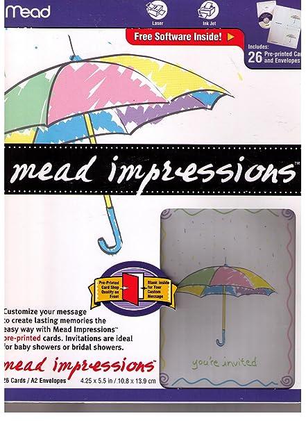Amazon mead impressions baby shower invitations office products mead impressions baby shower invitations filmwisefo