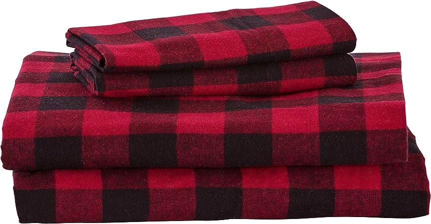 black and white buffalo plaid flannel sheets