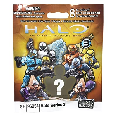 Halo Wars Mega Bloks Series 3 Minifigure Mystery Pack 1 RANDOM Mini Figure: Toys & Games