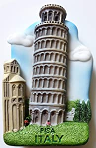 Leaning Tower of PISA ITALY Resin 3D fridge Refrigerator Thai Magnet Hand Made Craft. by Thai MCnets