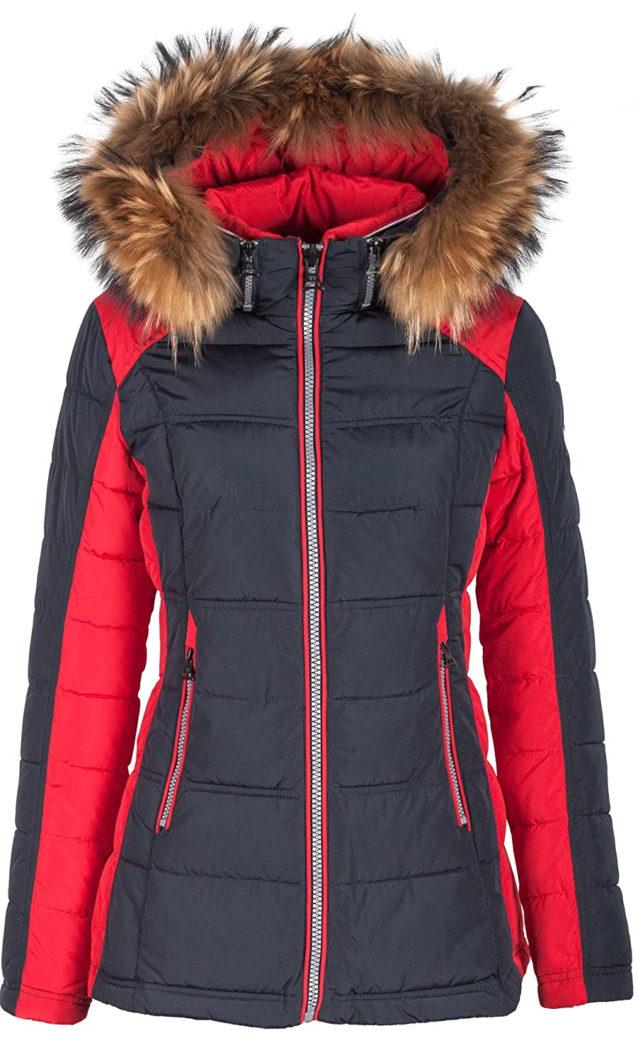 5M99 Damen Winterjacke Skijacke in Daunen-Optik