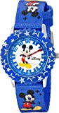 Disney Kids' W002481 Mickey Mouse Time Teacher Watch with Blue Band