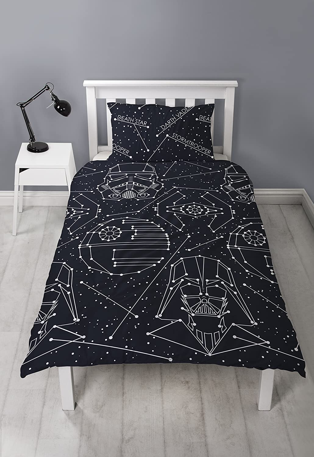 Star Wars Duvet Cover, Black, 200 x 130 cm Character World DSWSTEDS002UK1