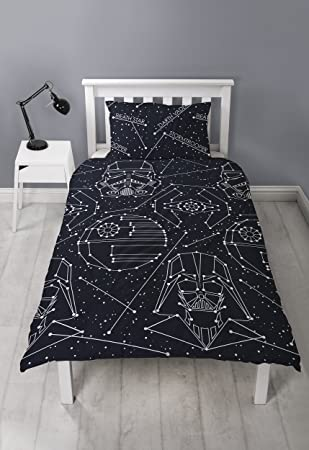 Funda Nordica Lego Star Wars.Star Wars Stellar Single Duvet Cover Darth Vader Storm Trooper Reversible Two Sided Design Kids Bedding Set Includes Matching Pillow Case